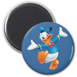 Donald Duck Jumping 2 Inch Round Magnet