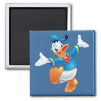 Donald Duck Jumping 2 Inch Square Magnet