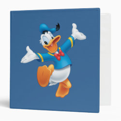 Avery Signature 1' Binder with Happy & Cute Donald Duck design