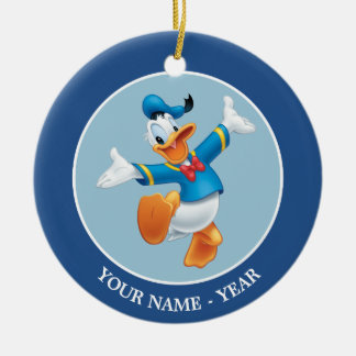 Donald Duck | Jumping Add Your Name Ceramic Ornament