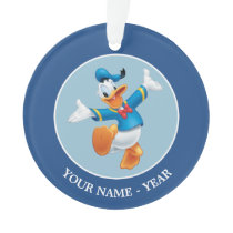 Donald Duck | Jumping Add Your Name Ornament