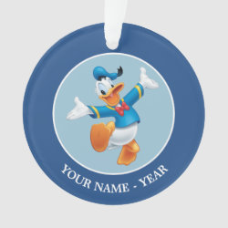 Circle Acrylic Ornament with Happy & Cute Donald Duck design