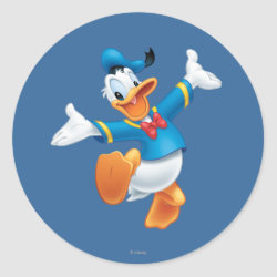 Round Sticker with Happy & Cute Donald Duck design