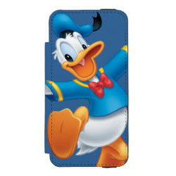 Incipio Watson™ iPhone 5/5s Wallet Case with Happy & Cute Donald Duck design