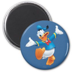 Round Magnet with Happy & Cute Donald Duck design