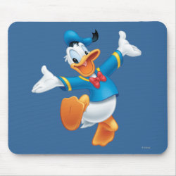 Mousepad with Happy & Cute Donald Duck design