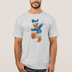 Men's Basic T-Shirt with Happy & Cute Donald Duck design