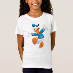 Girls' Fine Jersey T-Shirt with Happy & Cute Donald Duck design