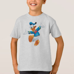Kids' Hanes TAGLESS® T-Shirt with Happy & Cute Donald Duck design