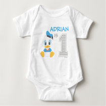 Donald Duck | Personalized First Birthday Baby Bodysuit