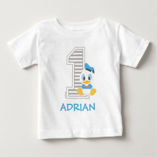 Donald Duck | Personalized First Birthday Baby T-Shirt
