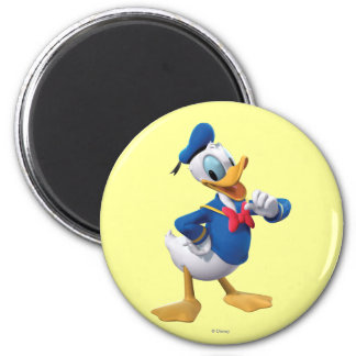 Donald Duck Pose 3 2 Inch Round Magnet