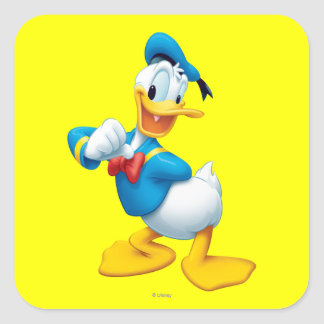 Donald Duck | Posing Square Sticker