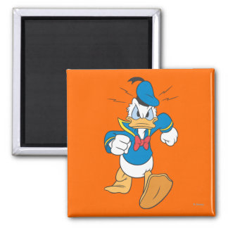 Donald Duck Running 2 Inch Square Magnet