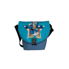 Donald Duck   Salute With Patriotic Star Courier Bag at Zazzle
