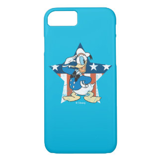 Donald Duck | Salute with Patriotic Star iPhone 7 Case