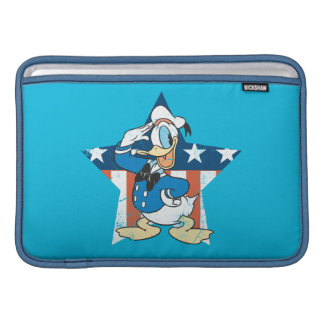 Donald Duck | Salute with Patriotic Star MacBook Air Sleeve