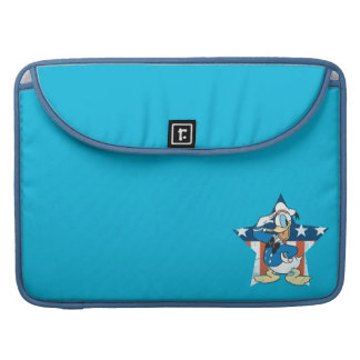 Donald Duck | Salute with Patriotic Star MacBook Pro Sleeve