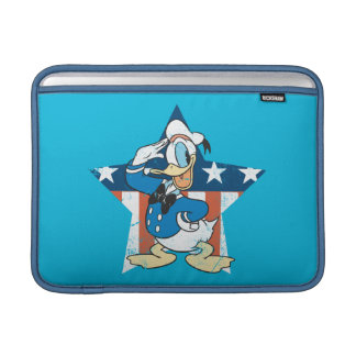 Donald Duck | Salute with Patriotic Star MacBook Sleeve