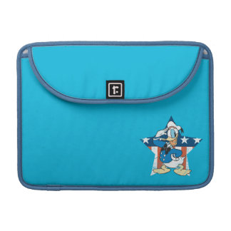 Donald Duck | Salute with Patriotic Star Sleeve For MacBook Pro