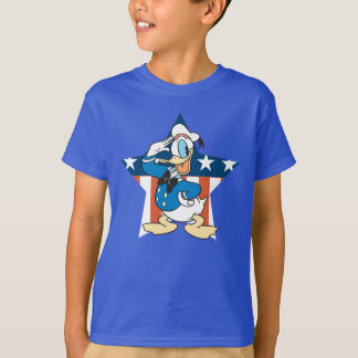 Donald Duck | Salute with Patriotic Star T-Shirt