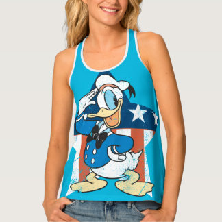 Donald Duck | Salute with Patriotic Star Tank Top