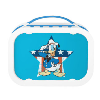 Donald Duck Salutes With Patiotic Star Yubo Lunchbox