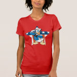 Donald Duck Salutes With Patiotic Star Shirts