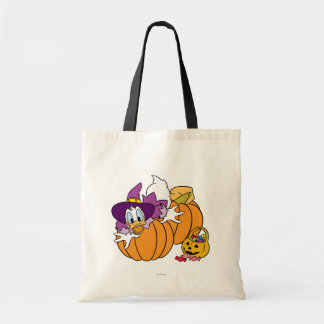 Donald Duck Sitting on Pumpkins Budget Tote Bag