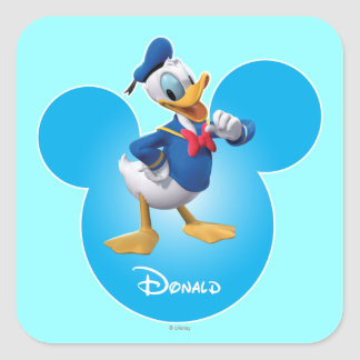 Donald Duck Square Sticker