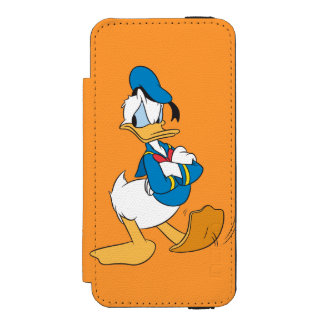Donald Duck | Standing Arms Crossed iPhone SE/5/5s Wallet Case