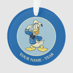 Circle Acrylic Ornament with Retro Sailor Donald Duck design
