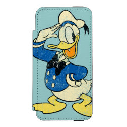 Incipio Watson™ iPhone 5/5s Wallet Case with Retro Sailor Donald Duck design