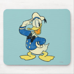 Mousepad with Retro Sailor Donald Duck design