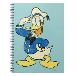 Photo Notebook (6.5' x 8.75', 80 Pages B&W) with Retro Sailor Donald Duck design