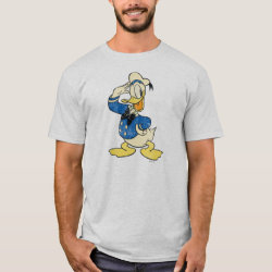 Men's Basic T-Shirt with Retro Sailor Donald Duck design