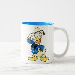 Two-Tone Mug with Retro Sailor Donald Duck design