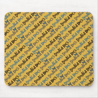 Donald Duck Yellow Pattern Mouse Pad