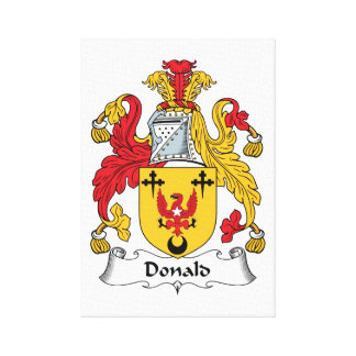Donald Family Crest Gallery Wrap Canvas