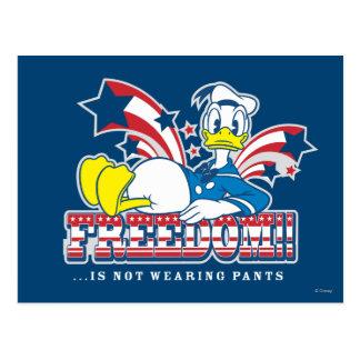 Donald - Freeedom no está llevando los pantalones Postal