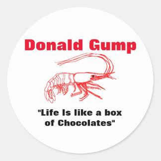 Donald Gump Box of Chocolate Trump Classic Round Sticker