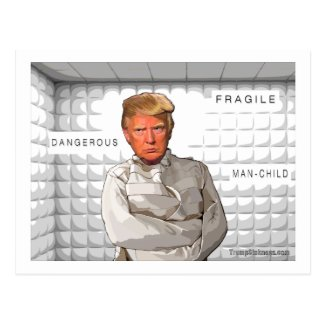 Donald in a straitjacket anti Trump painting