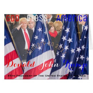 Donald J. Trump 45th President of The USA Card