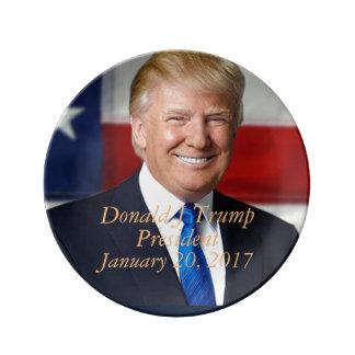 Donald J Trump President Commemorative Platter Plate