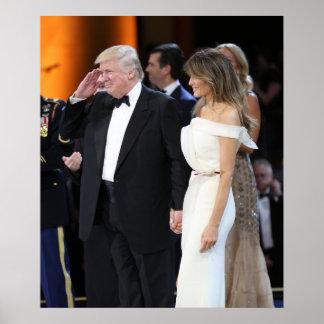 Donald & Melania Trump On Inauguration Day Poster