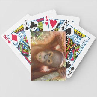Donald Orangutan at Borneo Care Center Playing Car Bicycle Playing Cards