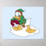 Donald que lanza una bola de nieve posters