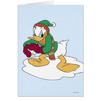 Donald Throwing a Snowball Card