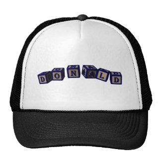 Donald Toy blocks in blue Trucker Hat