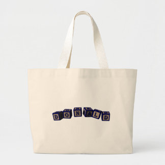 Donald Toy blocks in blue Jumbo Tote Bag
